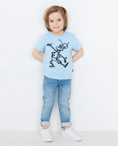 Lichtblauw T-shirt